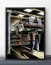 toile retour vers le futur DeLorean   40x60 cm