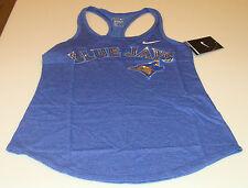 Toronto Blue Jays MLB Baseball M Ladies Women DF Cotton Blue Top Tank Chrome