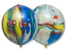 """25 x balloon Punch Ball 17"""" multi-coloured marble latex toy children's"""