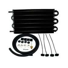BLACK ALUMINUM REMOTE TRANSMISSION OIL COOLER KIT/AUTO-MANUAL RADIATOR CONVERTER