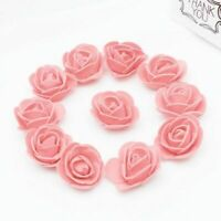 100pcs Fake Artificial Rose Head Foam Rose Flower for Home Bouquets Baby Shower