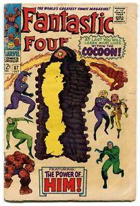 Fantastic Four 67 VG 4.0 Marvel 1967 Silver Age First Him Adam Warlock