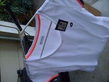 LOTTO Women M Medium TSHIRT T-Shirt BLUE or WHITE =Nike Italian Sport Tennis NEW