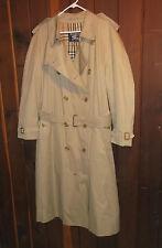 BURBERRY Made England NOVA Check Plaid Khaki Prorsum Belted Trench Coat Sz 58 RL