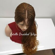 Brown Braids Wig, Twist Braids, Lace Part, Million Braids Wig, Braided Wig