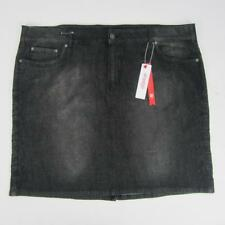 a02c17a879e68c New listingSheego Denim Plus Size Black Denim Skirt w  Embroidered Trim