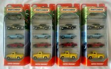 MATCHBOX SAPPHIRE GEM 1961 JAGUAR E-TYPE COFFEE CRUISERS 65TH 5 PACK LOT OF 4