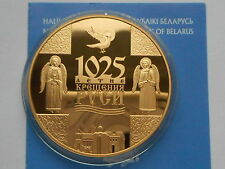 Belarus  Weißrussland  20 rubel 2013 Christianizing Rus 1025 years  gold silver