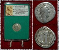 Ancient Roman Empire Coin Of COMMODUS Pax With Branch On Reverse Silver Denarius
