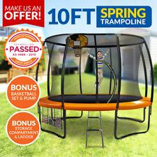 New 10ft Trampoline Free Ladder Spring Net Safety Pad Cover Round Outdoor