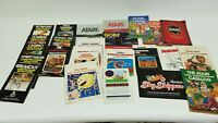 Vintage Lot of Atari 2600 Manuals Catalogs Game Instruction Manuals