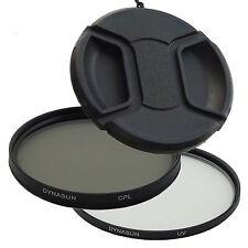 Filtro Ultra Violetto DynaSun UV 77 mm + Polarizzatore Circolare CPL 77mm +Tappo