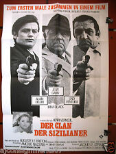 Der Clan der Sizilianer {Jean Gabin} Original German Movie Poster 60s
