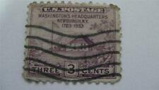 Washington Headquarters Purple Vintage USA Used 3 Cent Stamp