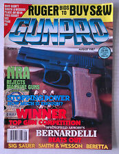 GUNPRO HANDGUN FIREARMS AMMO RIFLES MAGAZINE 9MM 45 1987 AUGUST