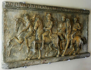 Procession of Alexander the Great Wall stone relief art Plaque sculpture decor