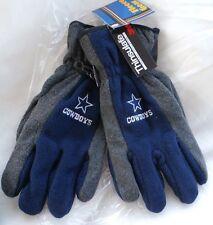 NWT Dallas COWBOYS Artic Thinsulate Fleece Gloves Blue  WARM Mens NEW