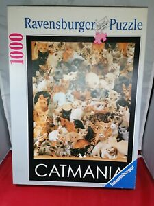 Ravensburger Cat mania 1000 Piece Jigsaw Puzzle complete