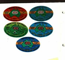 NICE  SET OF 5 DIFFERENT AUSTRALIA JOY COAL MINING STICKER # 295