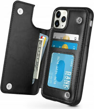 For Samsung S20 S10 A51 S9 Case Leather Flip Wallet Card Holder Phone Back Cover