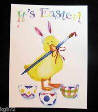 Leanin Tree Easter Greeting Card Duckling Duck Eggs Paint Multi Color E25