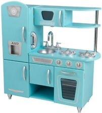 KidKraft Vintage Kitchen Playset Sleek Kids Fun Pretend-Play Easy-Clean Blue
