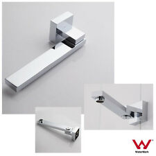 Chrome Cube Square 180 Swivel Wall Mount Spout / Bath Sink Basin Water Outlet