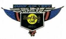 Hard Rock Cafe SEOUL 1997 July 4th PIN Black Shield Silver Eagle Flag Wings 8600