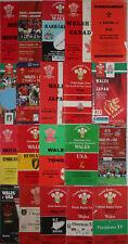 WELSH HOME PROGRAMMES BARGAIN BUNDLE  (20 PROGRAMMES) Fiji Italy Japan Tonga etc