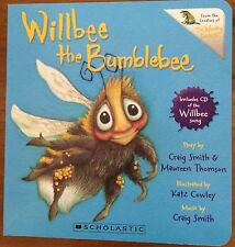 BOARD BOOK WILLBEE THE BUMBLEBEE ~ INCLUDES CD ~ NEW