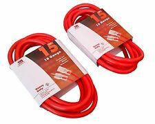 2-Pack 15 Ft 10 Gauge Extension Cord Heavy Duty Grounded Lit End UL 10/3