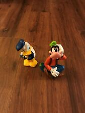"""Donald Duck & Goofy Plastic PVC Toy Figures/Cake Toppers/Bath Toys by Disney 6"""""""