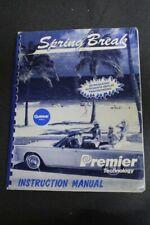 Gottlieb Spring Break Pinball Machine Manual - Used