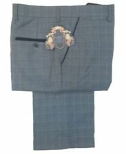 Pantalones de traje de hombre azul de poliéster