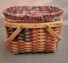Longaberger Collectors Club Miniature Flag Basket 2002