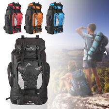 80L Extra Large Nylon Camping Backpack Travel Hiking Rucksack Luggage Bag New