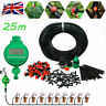25M Automatic Drip Irrigation System Kit Plant +Timer Self Watering Garden Hose