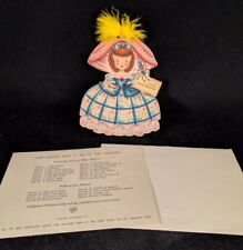 1947 Hallmark Doll Card Land Of Make Believe Series #6, Little Miss Muffet