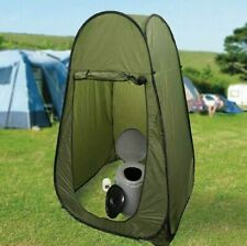 Portable Travel Green Pop Up Utility Camping Changing Room Shower Tent + Toilet