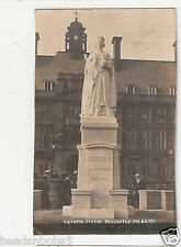 Rp Newcastle British Royalty Queen Victoria Statue 1837 - 1901 used 1906 No.5119