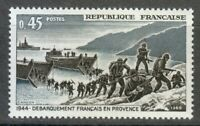 France 1969 MNH Sc 1252 Mi 1680 French Troops Landing in Provence.WW2 **