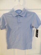 New Chaps Boys Approved School Uniform Light Blue Short Sleeve Polo Size M 5-6