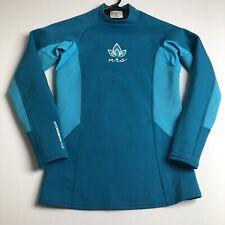 NRS Women Long Sleeve Hydroskin 0.5 Rash Guard Shirt Swim XS Blue Sun Protection