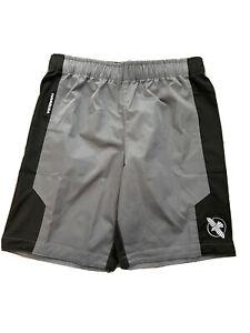 Hayabusa Hexagon Fight MMA Martial Art Shorts - Black & Gray- Men's Medium - EUC