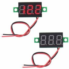 High Quality Red Electric DC 4.5-30V LCD Digital Panel Volt Meter