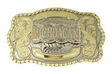 Michoacan Western Large Rodeo Cowboy Belt Buckle