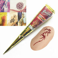 3colors Natural Herbal Henna Cones Temporary Tattoo Body Art Paint Mehandi Ink