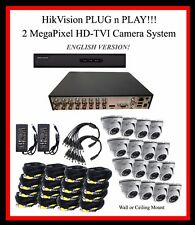 4TB HikVision 16 Ch HD-TVI System, 2MP TVI Cameras - Plug-N-Play!!  w/SUPPORT!!