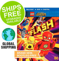 The Flash (Blu-ray + DVD + Digital, 2018) NEW, LEGO DC Comics Super Heroes