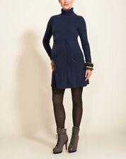 Boob Nursing Dress Stella - turtleneck breastfeeding dress in Black